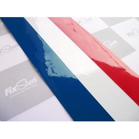 Adesivo Bandeira França Para Grade Peugeot - Kit Com 3 Tiras