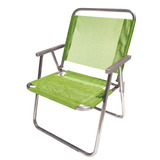 Cadeira De Praia Piscina Varanda Alta 130 Kg Em Alumínio