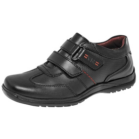 Zapato Escolar Yuyin 26170 Niño Negro 15-25 Envió Inmediato