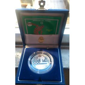 Moeda Italia Prata 500 Liras Olimpíadas Barcelona 1992