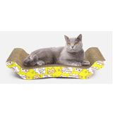 Rascador Carton Para Gatos Con Yerba Gatera