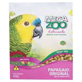 Ração Megazoo Extrusada Bits Para Papagaio Grande - 600 G