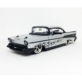 Miniatura Carro Chevrolet Bel Air 1957 Prata 1:24 Jada Toys