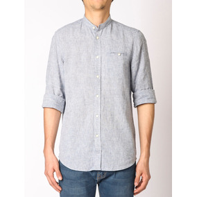 Camisa Cuello Mao Harrington Label -011959 15d9b7d24ca