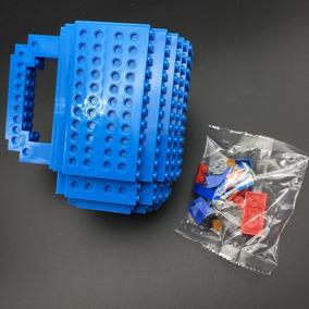 Caneca Lego Build-on Blocos Criativa Think Geek + Peças