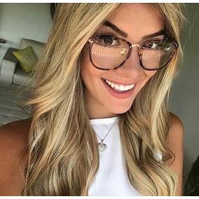 0b47ff83f34b4 Armação Oculos Feminino De Oncinha - Óculos no Mercado Livre Brasil