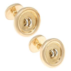 Mancuernillas Tipo Botón Quinto Tane En Oro Dos To-139438972