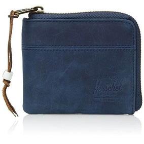 Cartera Hershel Hombre Azul Johny Wallet 1040201872os Piel