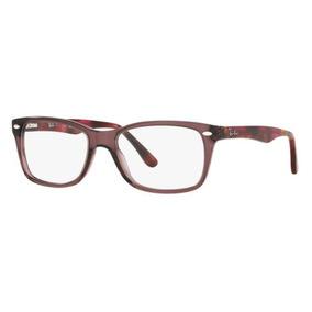 Armação Oculos Grau Ray Ban Rb5228 5628 53mm Marrom Transluc 09d5babd28