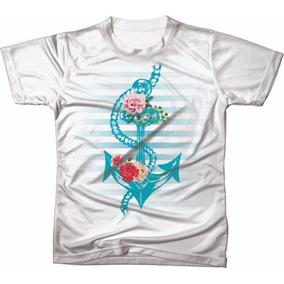 Camiseta Camisa Blusa Ancora Personalizada Ref 06 f4fb3b44dcd6e