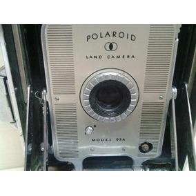 Antiga Camera Maquina Fotografica Polaroid 95 A
