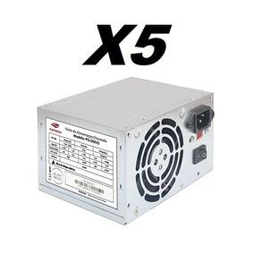 Kit 5 Fontes Atx 200w C3 Tech Ps-200v3 20/24 Pinos