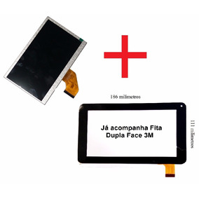 Touch + Display Tela Lcd Tablet Multilaser M7s Quad Core