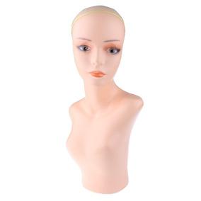Cabeza Maniquí Femenino Busto Peluca Sombrero Joyas Scalf V b09ca48613e