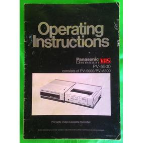 Manual Panasonic Omnivision Vhs Pv-5500 Usado