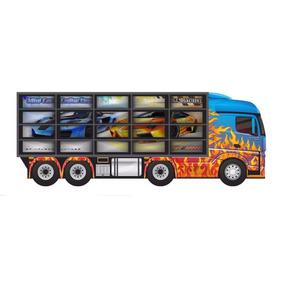Estante Painel Porta 20 Carrinhos Hot Wheels Madeira