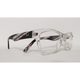 Óculos Armação Acetato Unissex Tamanho 51 Incolor Ref.ganz 72b6099adf