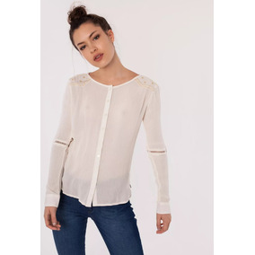 8a78e3523d99a Camisa De Jean Mujer Wrangler - Camisas Manga Larga de Mujer Piel en ...