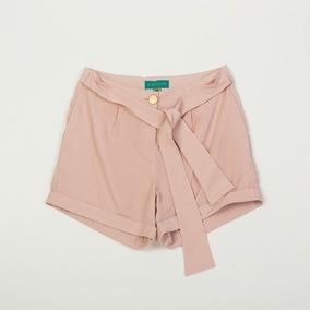 Short De Dama Con Lazo Color Rosa Spbell02/98 Tienda Oficial