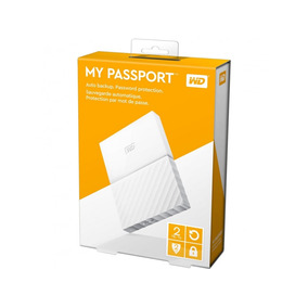 Hd Externo 2tb Wd My Passport Branco Usb 3.0 Wdbs4b0020bwt