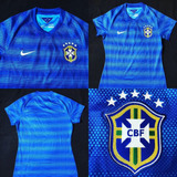 cd3675c9f9 Camisa Seleção Brasil ¿¿ 2014 Away Tam P Feminina (65x44)