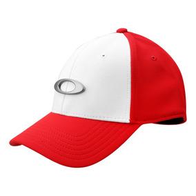 Bone Oakley Tincan Cap Vermelho Branco 100% Original fd4cdf8c0e