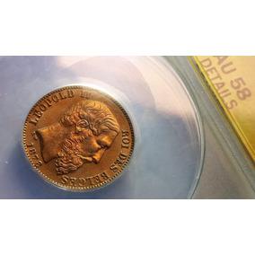 Moeda De Ouro Antiga Bélgica 20 Fr - Séc 19 - Leopold Il