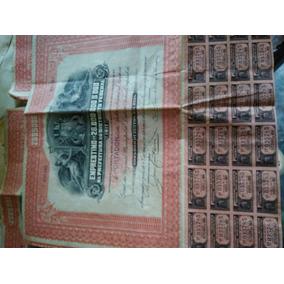 Apólice 1917 Dívida Pública Distrito Federal Rara Chance