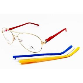Armação De Óculos De Grau, Ana Hickmann, Haste Troca De Cor - Óculos ... 00d28c221e