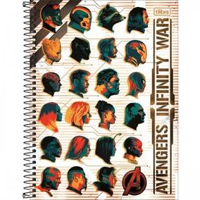 Caderno Avengers 10 Materias 160 Folhas Tilibra