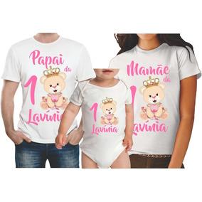 62dd8d7ce Kit 3 Camisetas Personalizadas Familia De Princesa Tamanho Sm ...