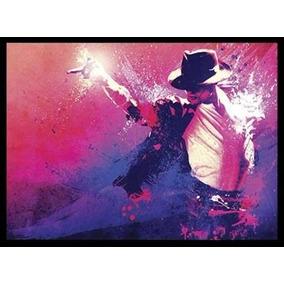 Michael Jackson - Poster Com Moldura Médio Quadro S/ Vidro