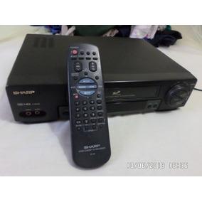 Video Cassete Sharp 4 Cabeças Com Controle Remoto Conservado