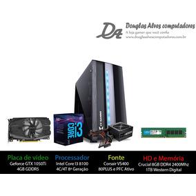 Pc Gamer 3 - Intel I3 8100/gtx 1050ti 4gb/8gb Ddr4/1tb/h310