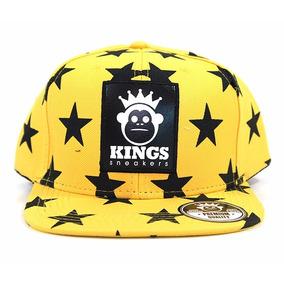 3a34ad1579551 Bone Aba Reta Kings Sneakers - Bonés para Masculino no Mercado Livre ...