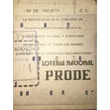 Antigua Tarjeta De Prode
