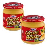 Salsa De Queso Kraft Cheez Whiz Original 2 Frascos X 425 Grs