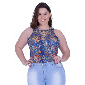 Body Feminino Zigma Plus Size Cavado