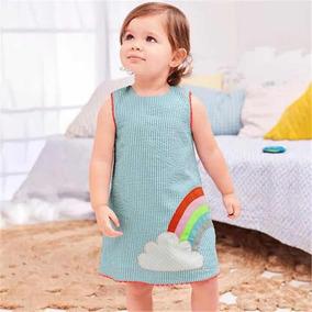 Vestido Niña Arcoíris Tipo Carters Verano 4/ 5 Años Nuevo