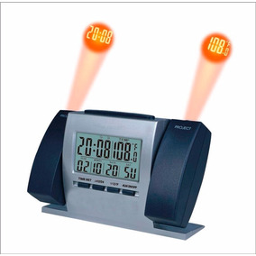 e4ad427d475 Relógio Digital Projetor Laser Alarme 7 Cores De Luz 4 Sons ...
