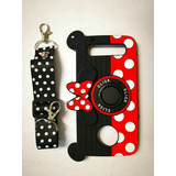 Funda Silicon Minni Mouse Con Anillo Y Correa Moto Z2 Play