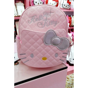 Mochila Escolar Menina Infantil Desenho Gato Hello Kitty