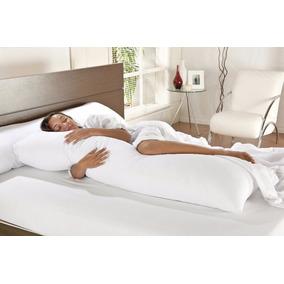 Travesseiro De Corpo Branco Gigante 0,45 X 1,30 Não Baixa!!