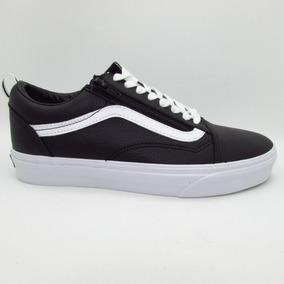86d717cac67c0 Tenis Vans Old Skool Zip Leather Vn0a3493l3a Black Piel