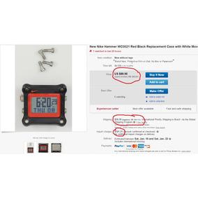 d540102d437 Caixa Display Relógio Nike Hammer Wc0021 Importado Original