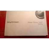 Celular Manual Sony Ericsson T237 Retro