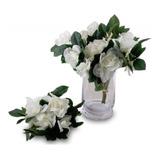 Ramo Flores Artificiales Jazmin Blancos 26 Cm