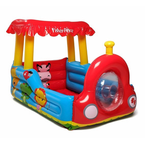 Tren Pelotero Inflable Niños Fisher Price Saltarin Bestway