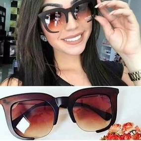 ff52cfba95825 Oculos Feminino Grande Marrom Quadrado - Óculos no Mercado Livre Brasil