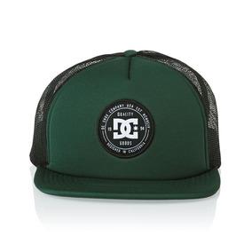 Gorra Dc Mod Harlenson Trucker Verde Negro!! 100% Original! 18f0064ff77
